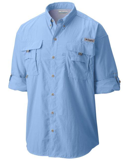 Columbia Blue Men?s Pfg Tall Bahama? Ii Long Sleeve Shirt for men