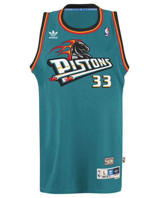 529a22464522c Adidas Originals Blue Mens Grant Hill Detroit Pistons Retired Player Swingman  Jersey for Women Green 4 Kevin Kolb Jersey ... Philadelphia 76ers 13 Wilt  ...