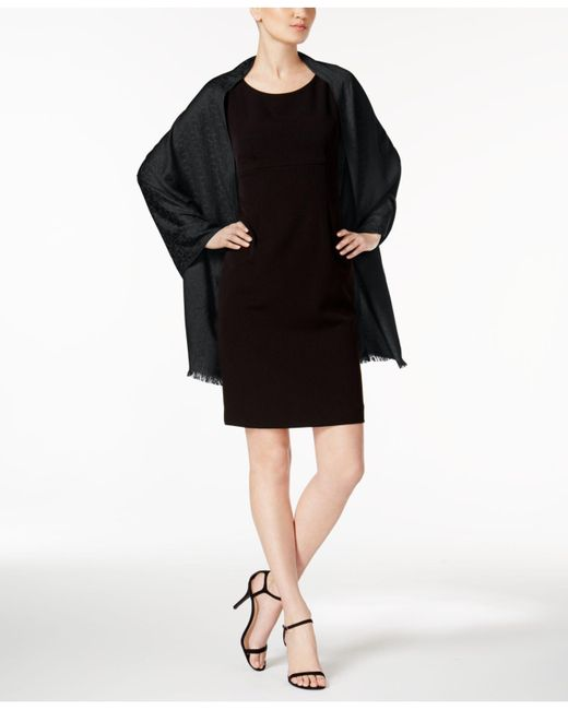 Calvin Klein - Black Ck Logo Pashmina Wrap - Lyst
