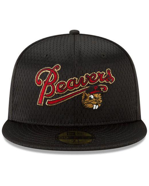 sports shoes 2ecd0 d9cc0 ... KTZ - Black Portland Beavers Batting Practice Mesh 59fifty-fitted Cap  for Men - Lyst ...