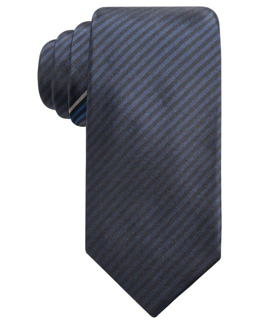 Alfani | Blue Men's Stripe Slim Silk Tie, Created For Macy's for Men | Lyst