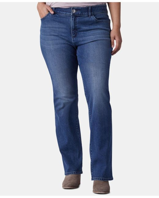 Lee Platinum Blue Plus Size Bootcut-leg Jeans