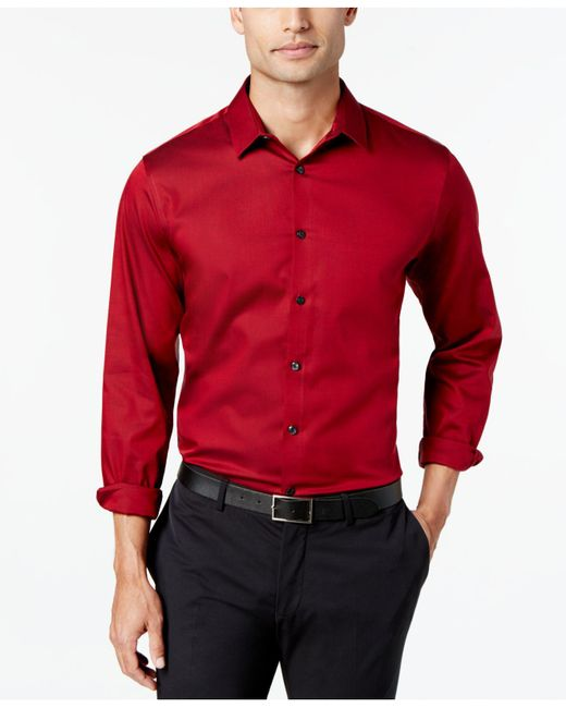 INC International Concepts - Red Joshua Non-iron Shirt for Men - Lyst