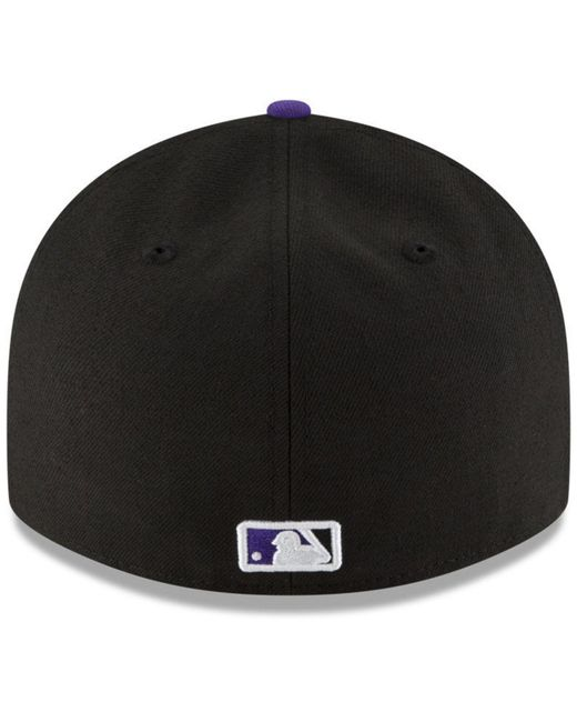 new concept eef05 58e26 ... KTZ - Black Colorado Rockies 9-11 Memorial Low Profile 59fifty Fitted  Cap for Men