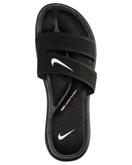 2f2ef036b493 ... Nike - Black Women s Ultra Comfort Slide Sandals From Finish Line ...