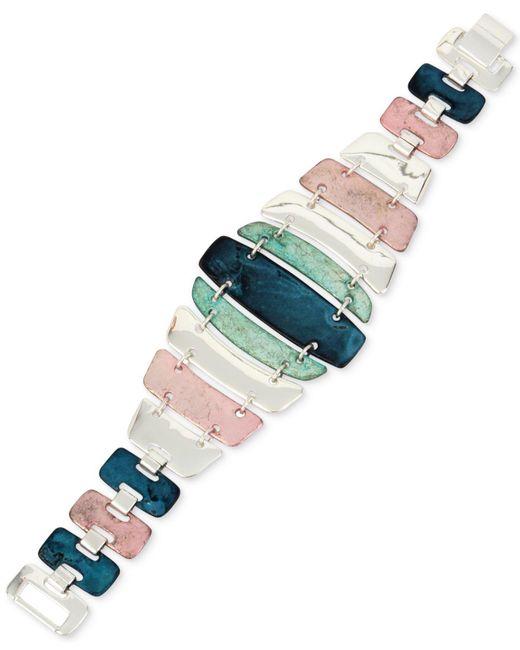 Robert Lee Morris | Multicolor Silver-tone Multi-stone Flex Bracelet | Lyst