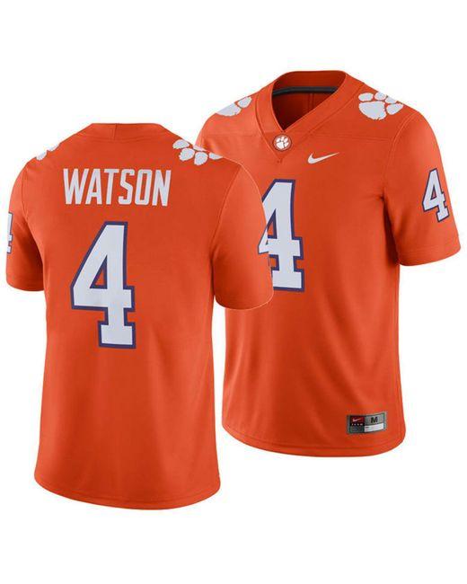 Nike Orange Deshaun Watson Clemson Tigers Player Game Jersey for men