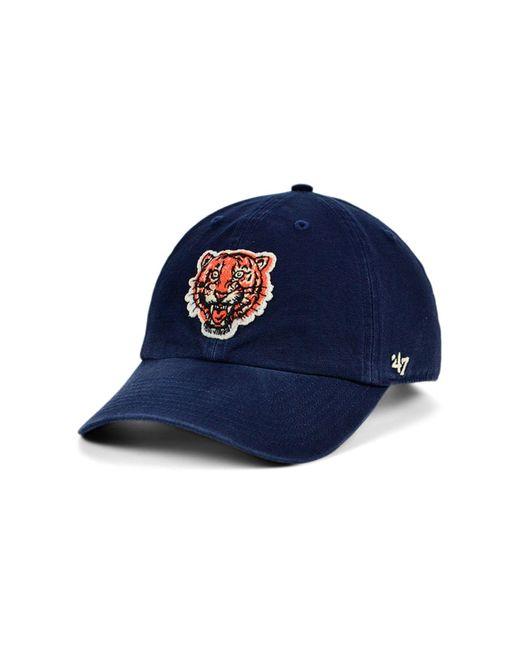 47 Brand Blue Detroit Tigers Mclean Coop Clean Up Cap for men