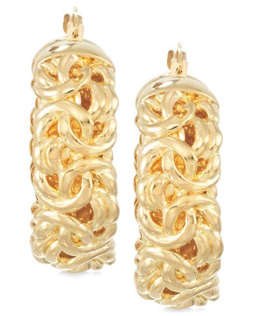 Signature Gold - Metallic Byzantine Hoop Earrings In 14k Gold - Lyst