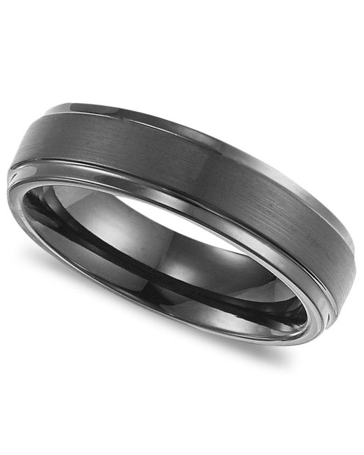 Triton | Metallic Men's Black Tungsten Carbide Ring, Comfort Fit Wedding Band (6mm) for Men | Lyst