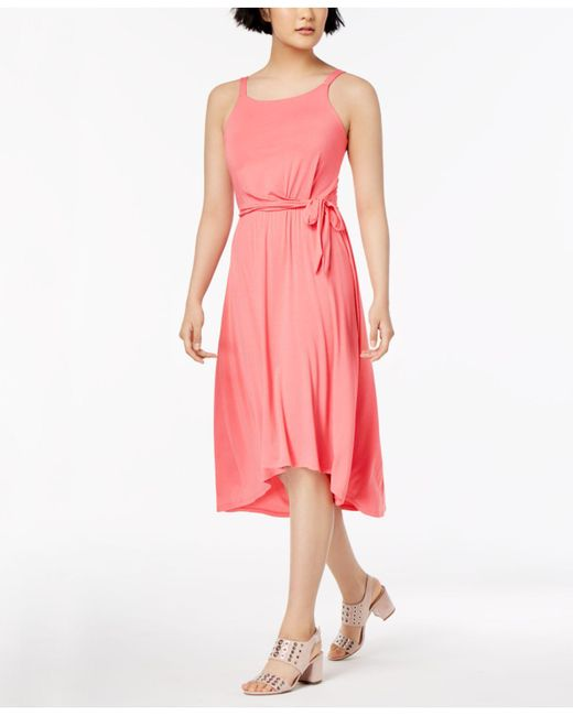 Maison Jules - Pink High-low Fit & Flare Dress, Created For Macy's - Lyst