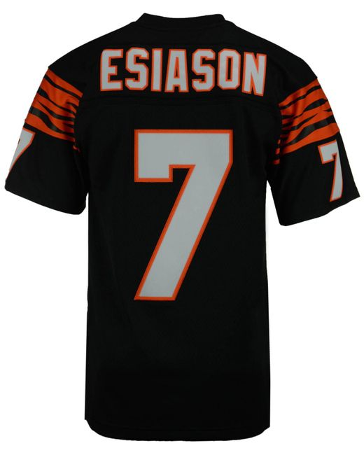 Mitchell & Ness Black Men's Boomer Esiason Cincinnati Bengals Replica Throwback Jersey for men