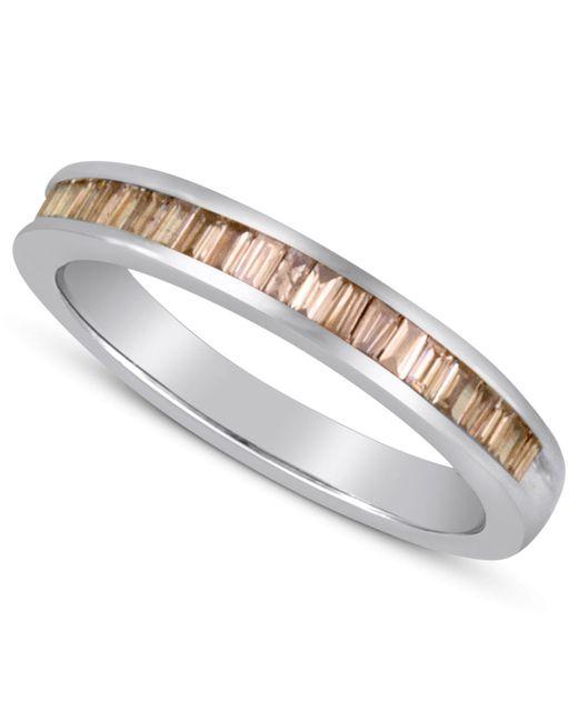 Macy's - Gray Baguette-cut Champagne Diamond Ring In Sterling Silver (1 Ct. T.w.) - Lyst