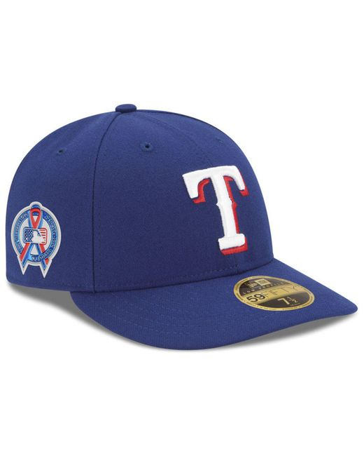 sale retailer 533a5 be3a9 KTZ - Blue Texas Rangers 9-11 Memorial Low Profile 59fifty Fitted Cap for  Men ...