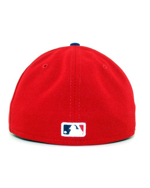 e22a430219c ... KTZ - Red Philadelphia Phillies Mlb Authentic Collection 59fifty Cap  for Men - Lyst