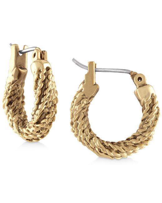 RACHEL Rachel Roy - Metallic Gold-tone Rope Hoop Earrings - Lyst