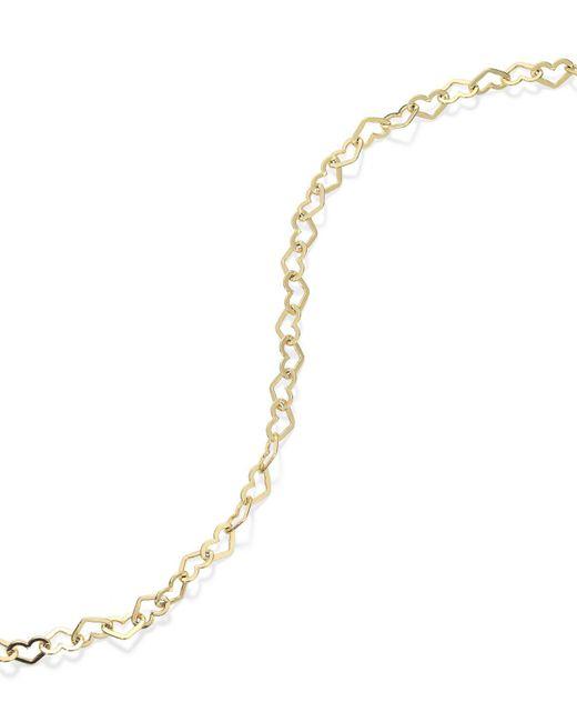 Giani Bernini | Metallic 24k Gold Over Sterling Silver Anklet, Heart Chain Anklet | Lyst
