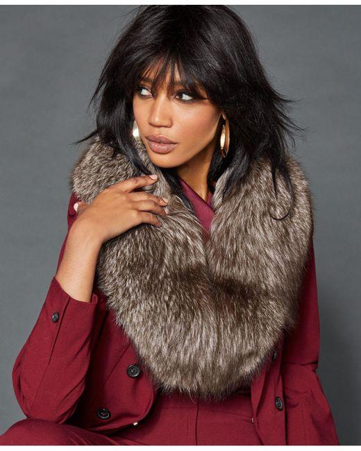 The Fur Vault Multicolor Fox Fur Shawl