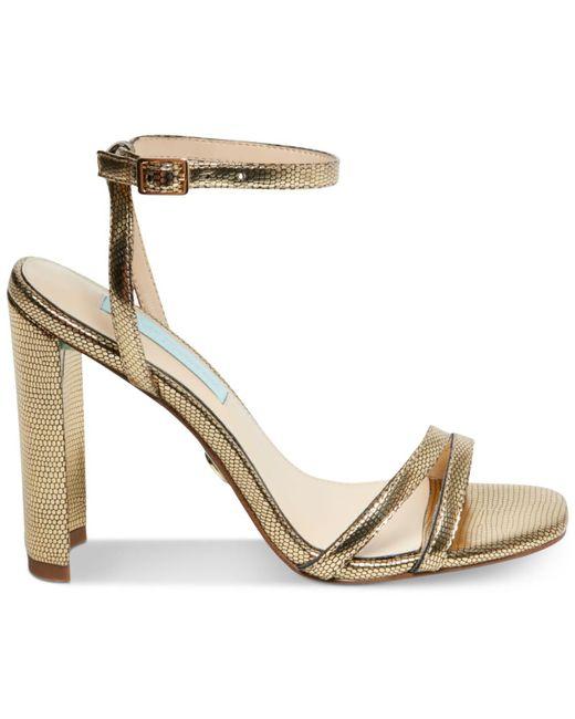 55fe4aa21819 ... Betsey Johnson - Metallic Mady Dress Sandals - Lyst ...