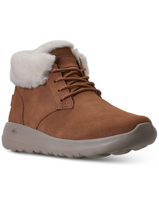 Skechers Brown On The Go Joy Lush Winter Boots From Finish Line