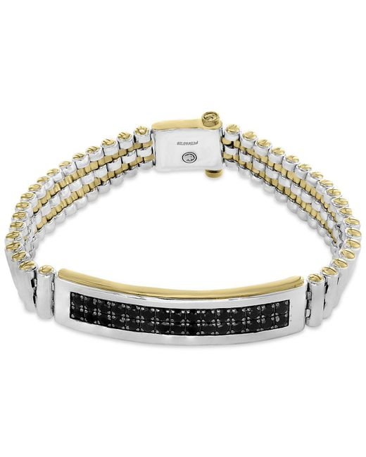 Effy Collection - Metallic Men's Sapphire Bracelet (4-1/5 Ct. T.w.) In Sterling Silver And 18k Gold-plate - Lyst