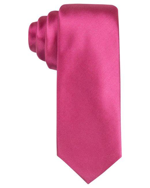 Alfani - Pink Men's Avenue Solid Slim Tie for Men - Lyst