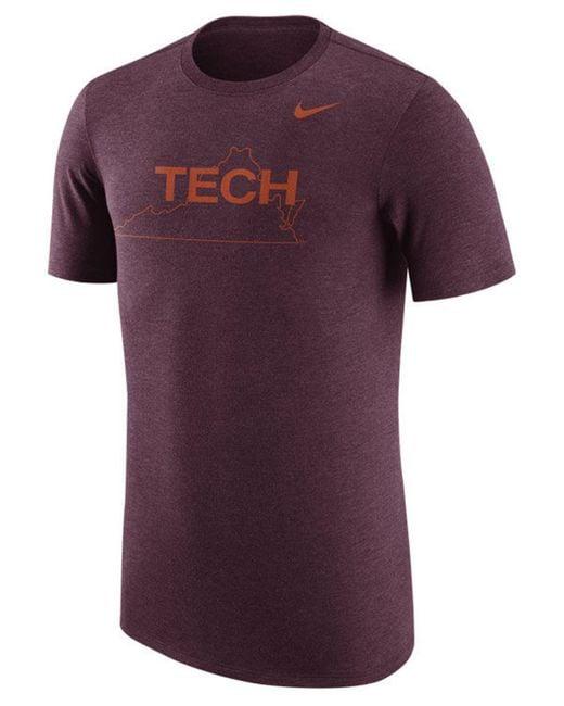 Nike - Purple Virginia Tech Hokies Vault Logo Tri-blend T-shirt for Men - Lyst