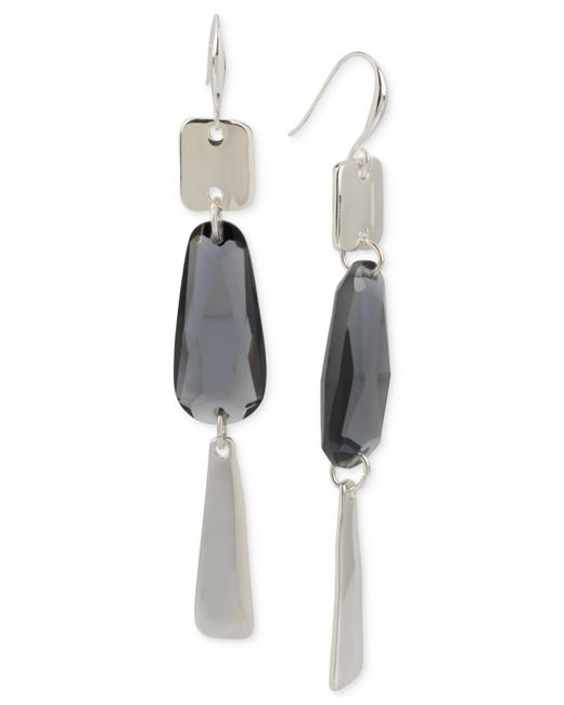 Robert Lee Morris | Black Silver-tone Jet Crystal Chandelier Earrings | Lyst