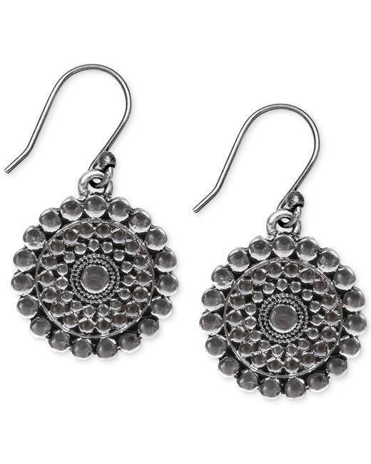 Lucky Brand - Metallic Silver-tone Drop Earrings - Lyst