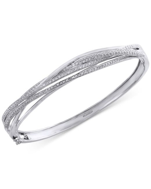 Effy Collection - Metallic Pavé Classica By Effy Diamond Bangle (1 Ct. T.w.) In 14k White Gold - Lyst