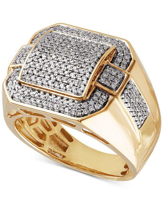Macy's - Metallic Diamond Pavé Ring (3/4 Ct. T.w.) In 10k Gold - Lyst