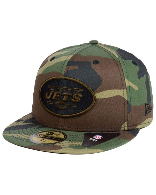 7eaee4b68 KTZ - Green New York Jets Woodland Prism Pack 59fifty-fitted Cap for Men ...