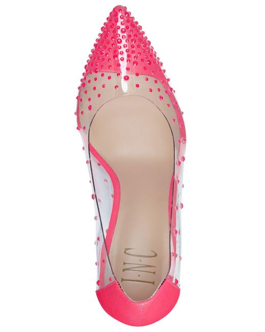 INC International Concepts Pink Inc Katey Vinyl Pumps, Created For Macy's