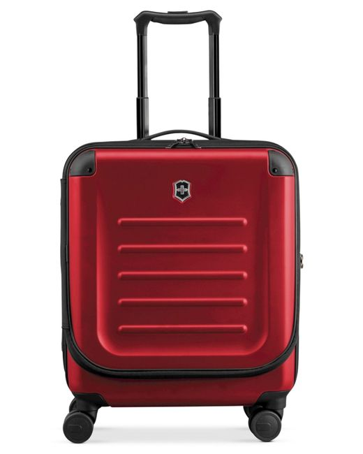 "Victorinox | Red Suitcase, 21"" Spectra 2.0 Rolling Hardside Extra Capacity Dual Access Carry On Spinner Upright for Men 