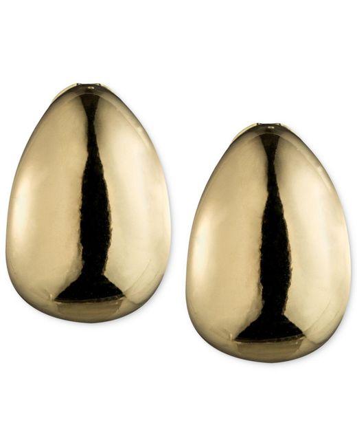 Anne Klein | Metallic Silver-tone Hoop Clip-on Earrings | Lyst