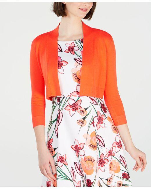 Calvin Klein Orange Shrug Cardigan