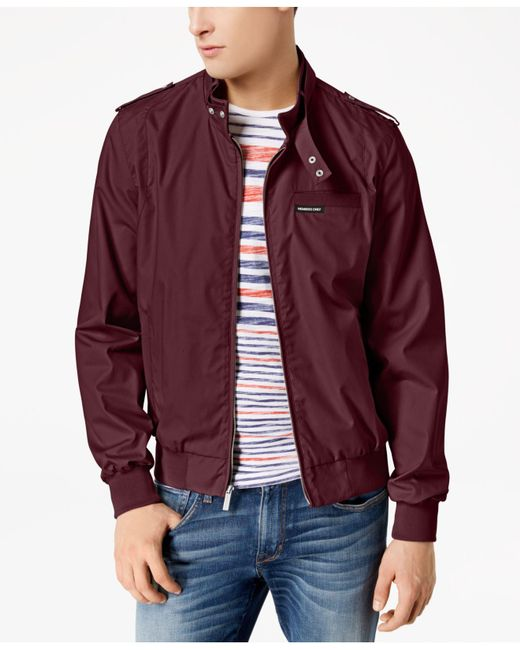 Members Only Multicolor Iconic Racer Lightweight Jacket for men