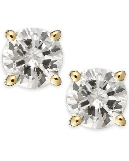 Macy's   Metallic Diamond Stud Earrings (1/3 Ct. T.w.) In 14k White Or Yellow Gold   Lyst