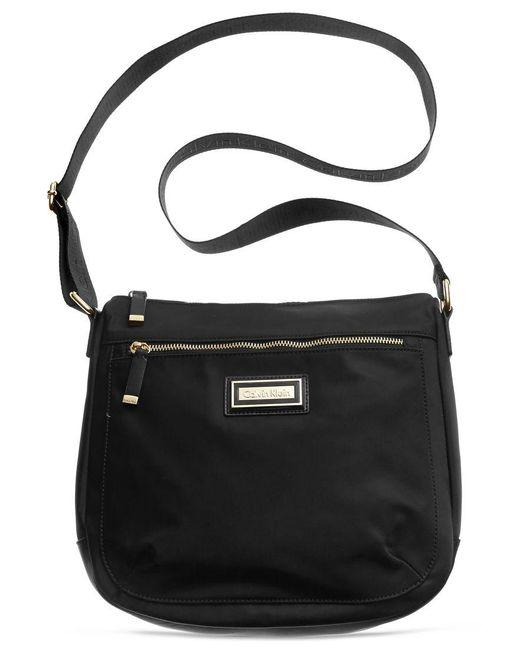 Calvin Klein | Black Nylon Messenger Bag | Lyst