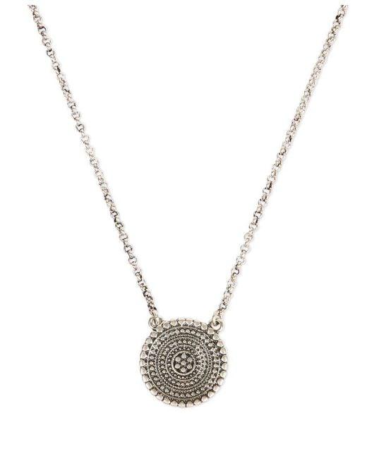 Lucky Brand | Metallic Silver-tone Pendant Necklace | Lyst