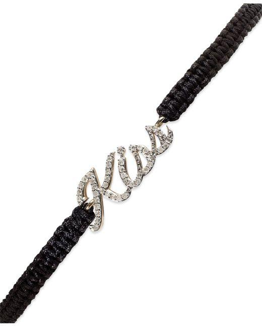 Macy's | Black Diamond Kiss Parachute Bracelet (1/6 Ct. T.w.) | Lyst