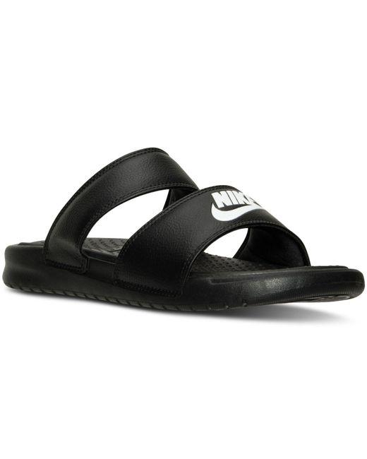 Nike Black Benassi Duo Ultra Slide Sandals From Finish Line