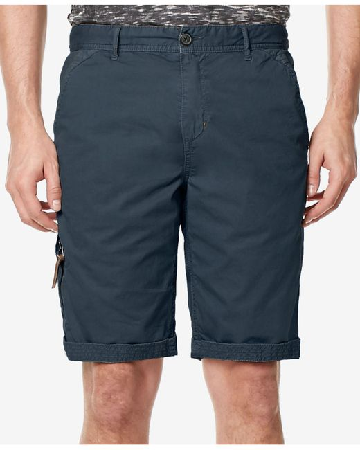 Buffalo David Bitton - Blue Men's Hirculean Cotton Shorts for Men - Lyst