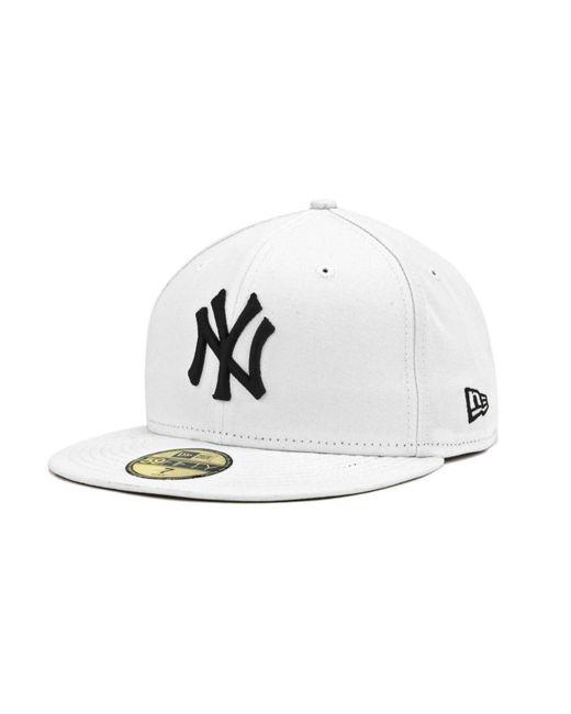 KTZ   New York Yankees Mlb White And Black 59fifty Cap for Men   Lyst