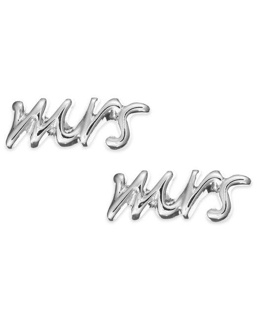 "kate spade new york | Metallic ""mrs"" Stud Earrings | Lyst"
