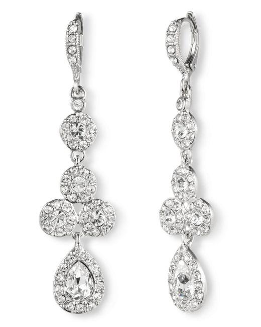 Givenchy | Metallic Silver-tone Crystal Y Necklace | Lyst