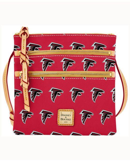 Dooney & Bourke - Red Atlanta Falcons Triple-zip Crossbody Bag - Lyst
