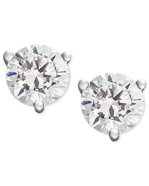 Macy's Metallic Near Colorless Certified Diamond Stud Earrings In 18k White Or Yellow Gold (3/4 Ct. T.w.)