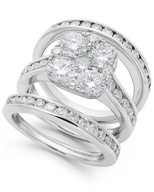 Macy s Diamond Engagement Ring Bridal Set In 14k Gold 3 3 4 Ct T w in