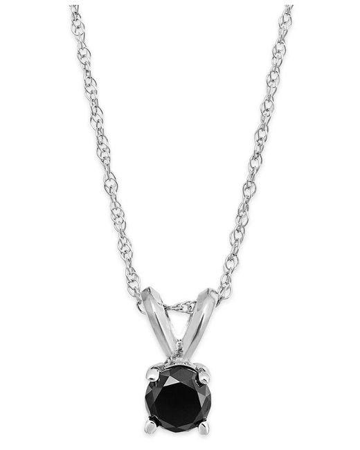 Macy's | Metallic Diamond Multicolor Pendant Necklace (1/4 Ct. T.w.) In Sterling Silver | Lyst